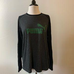 Puma Long Men's Sleeve T-shirt Size M